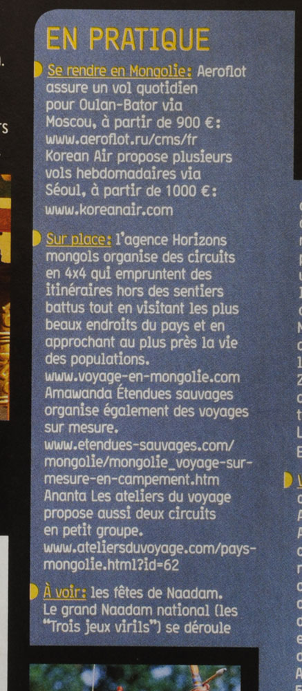 horizons mongols le blog sur la mongolie de l 39 agence de voyage horizons mongols magazine l. Black Bedroom Furniture Sets. Home Design Ideas