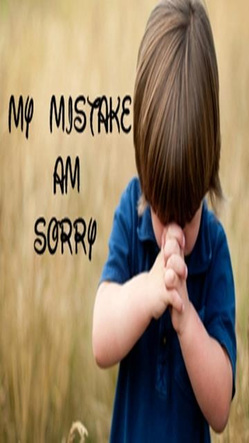 My Mistake Am Sorry Mobile Wallpaper | X9Wallpapers I Am Really Sorry Wallpaper