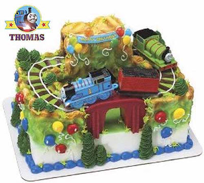 A most excellent Percy Thomas the train cake birthday decoration for boys special celebration event