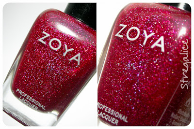 Zoya Blaze red holographic detail