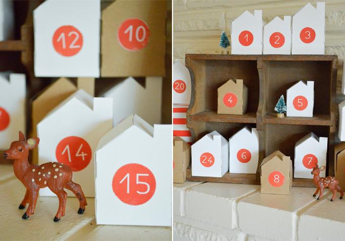 Advent Calendar Village Diy : Swoon studio handmade christmas little village advent
