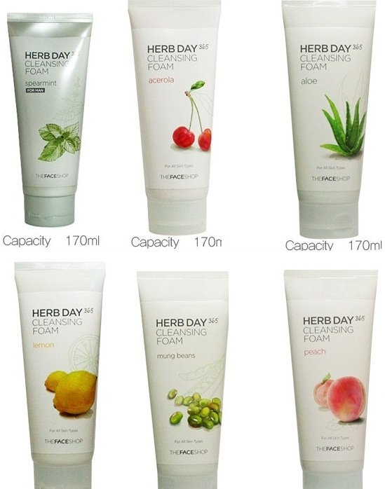 Bn Sa ra mt The Face Shop Herb Day 365 Cleansing Foam-Acerola vi Gi 98.000 VN
