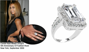 Beyonce Engagement Ring Champagne Gem