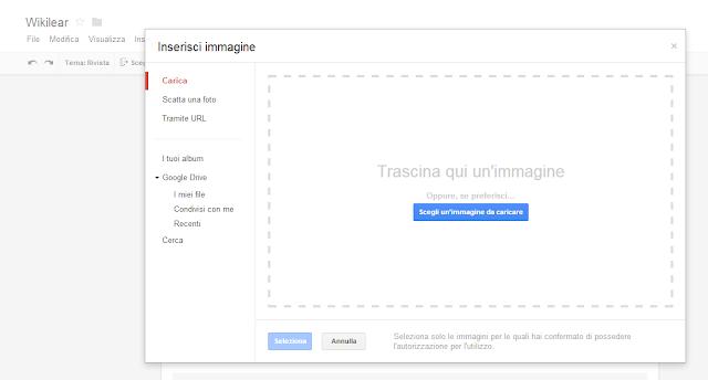 Google Moduli Google Forms - Carica immagini
