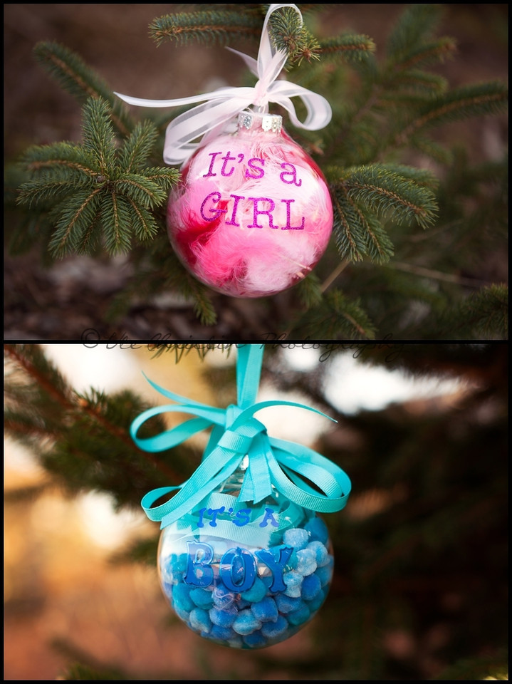 christmas gender reveal idea