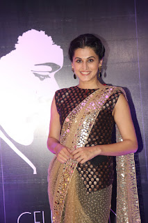 Taapsee Pannu looks breathtakingly Beautiful in Koti Style Blouse and Designer Saree