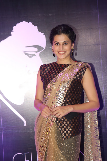 Taapsee Pannu looks breathtakingly Beautiful in Koti Style Blouse and Designer Saree