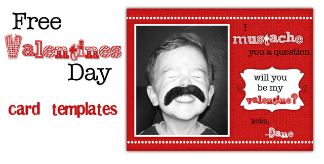 Mustache and Nerd Valentines Day Cards Printables 4 Mom – Valentines Day Cards Template