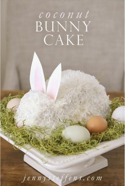 *Coconut Bunny Cake*