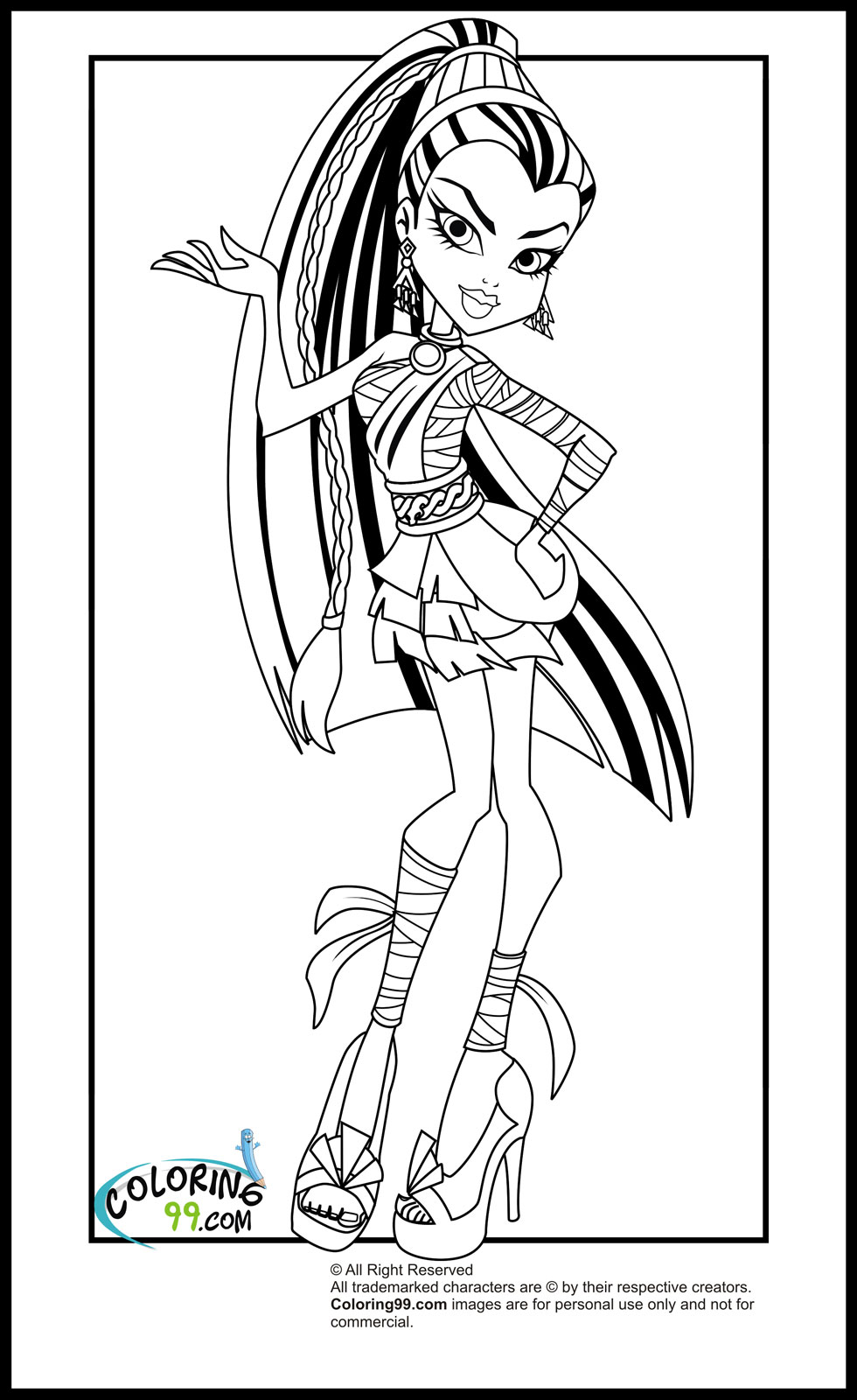 Ultimate Monster High Coloring Pages