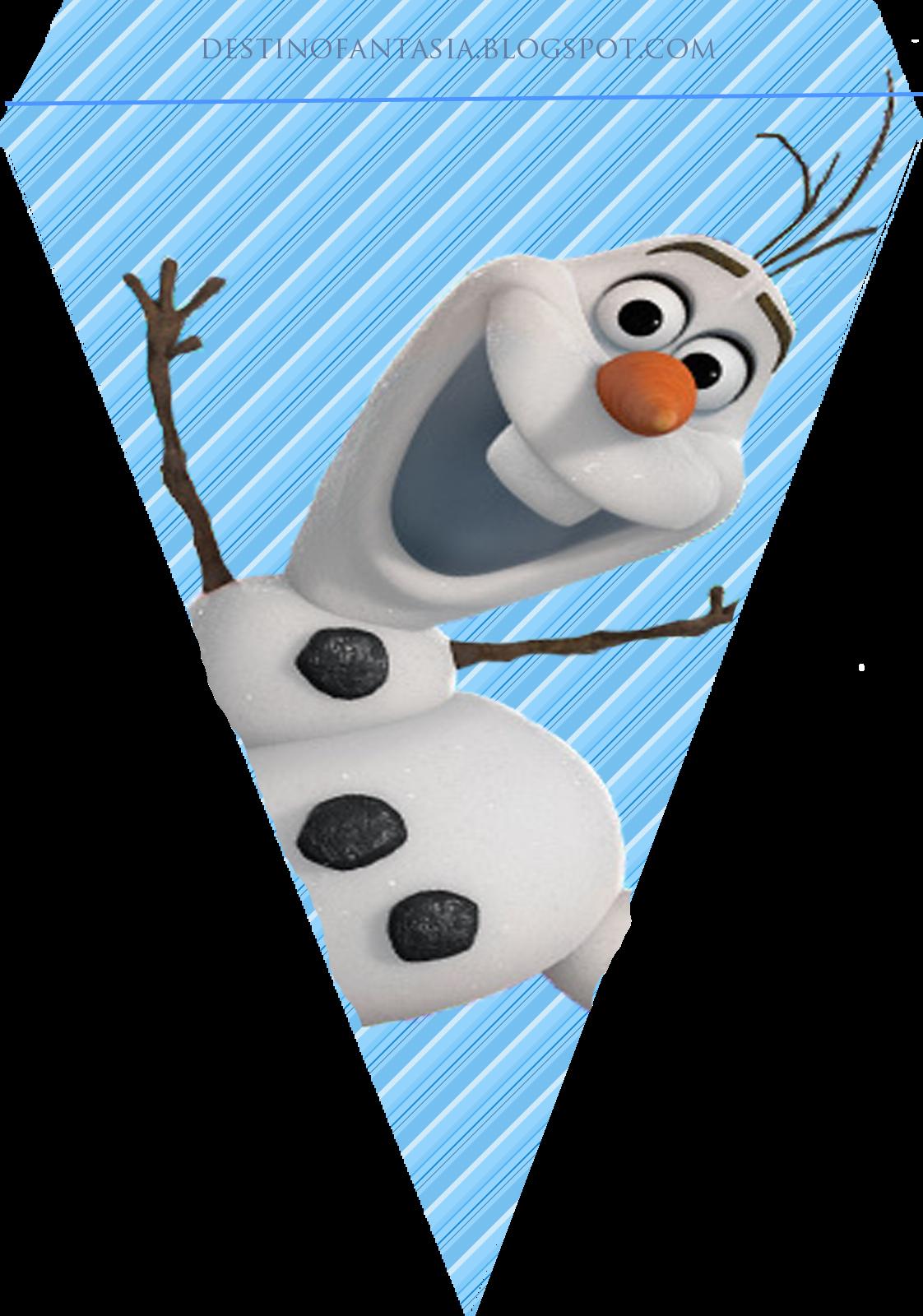 bandeirinha festa frozen