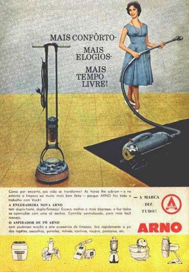 Praticidade nos lares dos anos 50 com a linha de eletrodomésticos da Arno.