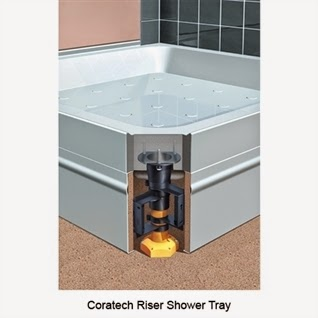 Coram Shower Tray With Riser Legs