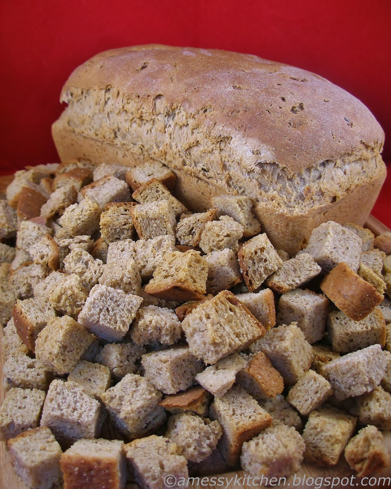 Messy Kitchen Baking: A Messy Kitchen: Stuffing Bread Croutons