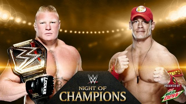 Night of Champions 2014 » Brock Lesnar vs. John Cena (WWE World Heavyweight Championship)
