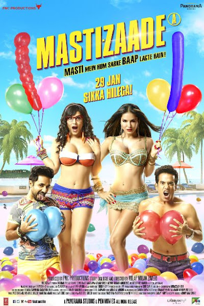 Poster Of Mastizaade 2016 Hindi DVDScr Full Movie Download