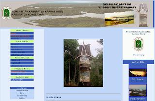 Arti Lambang, Kabupaten Kapuas Hulu, Website Pemerintah Kabupaten Kapuas Hulu