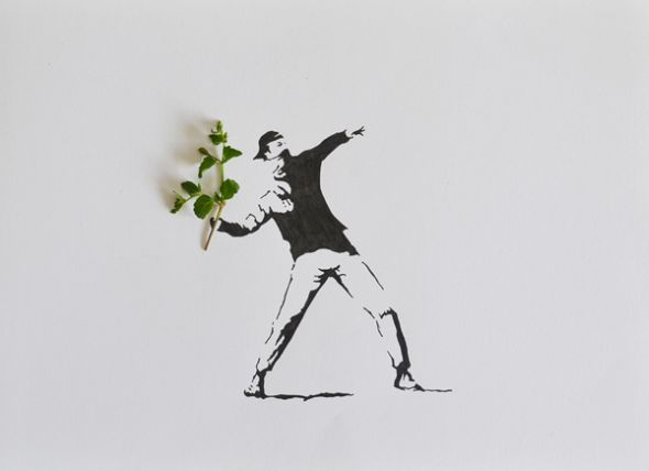 Tang Chiew Ling illustrations design fashion lyrical leaf leaves nature Banksy