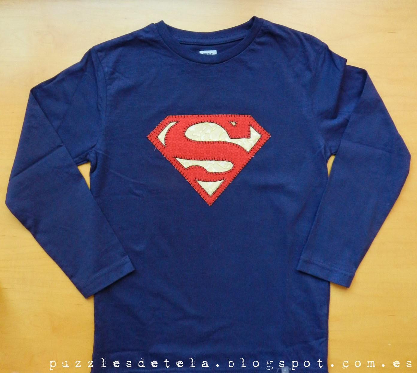 Salón del cómic, Salón del cómic Zaragoza, patchwork, camisetas patchwork, camisetas niño, ropa infantil, camiseta Superman, Superman, Camiseta Superman patchwork, aplicaciones