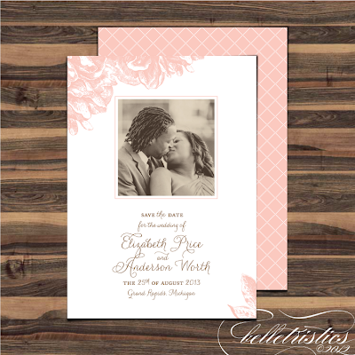 pink peony sweet romantic diy printable photo save the date design