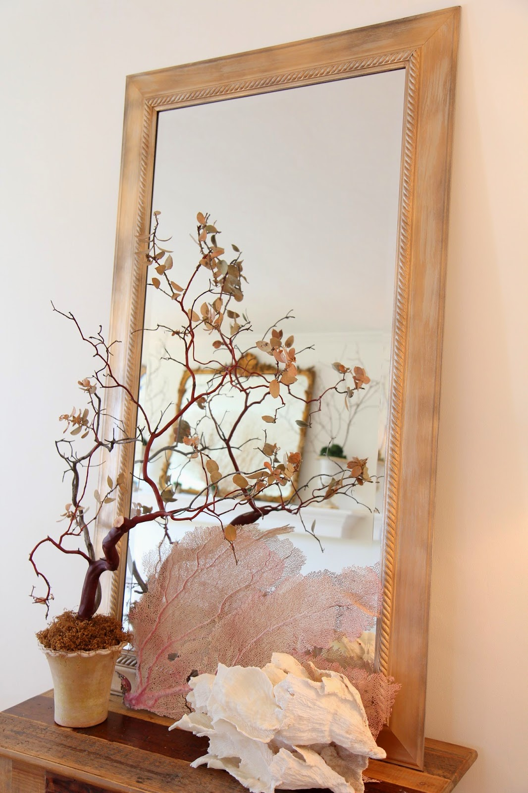 Gold Mirror for a Wedding Reception; Transform a Frame from New to Antique; Nora's Nest