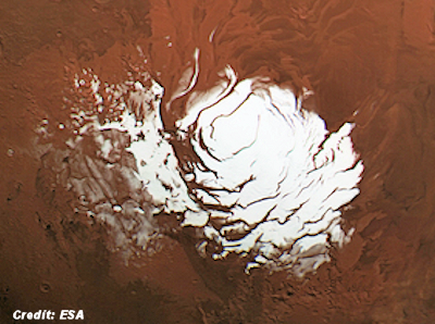 Amazing Close-Up of Mars' Mysterious South Pole 2015