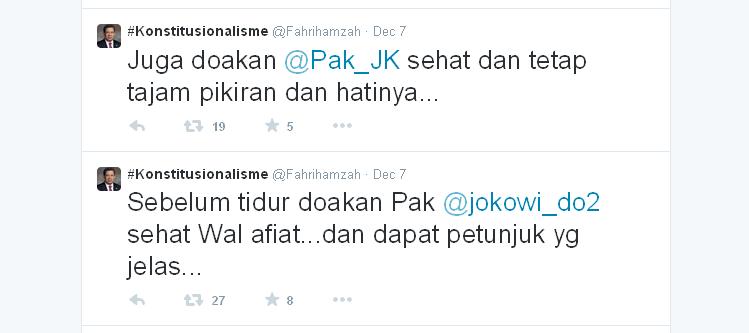 Semoga Jokowi Dapat Petunjuk Yang Jelas dan JK Tetap Tajam Pikiran dan Hatinya