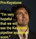 Justin Trudeau on the Keystone pipeline.