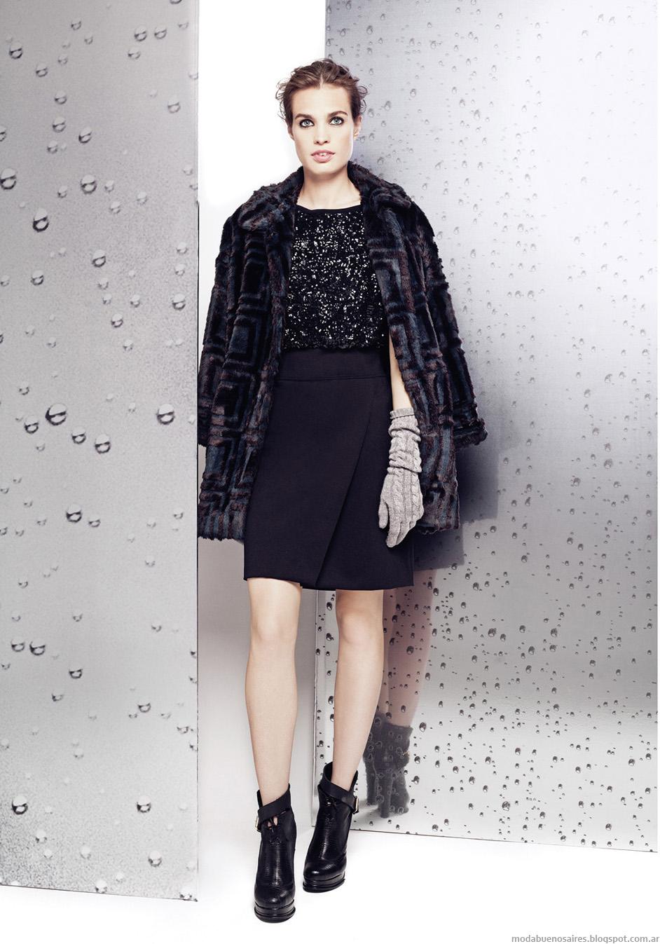 Tapados de fiesta 2014.Moda en la colección Graciela Naum invierno 2014.