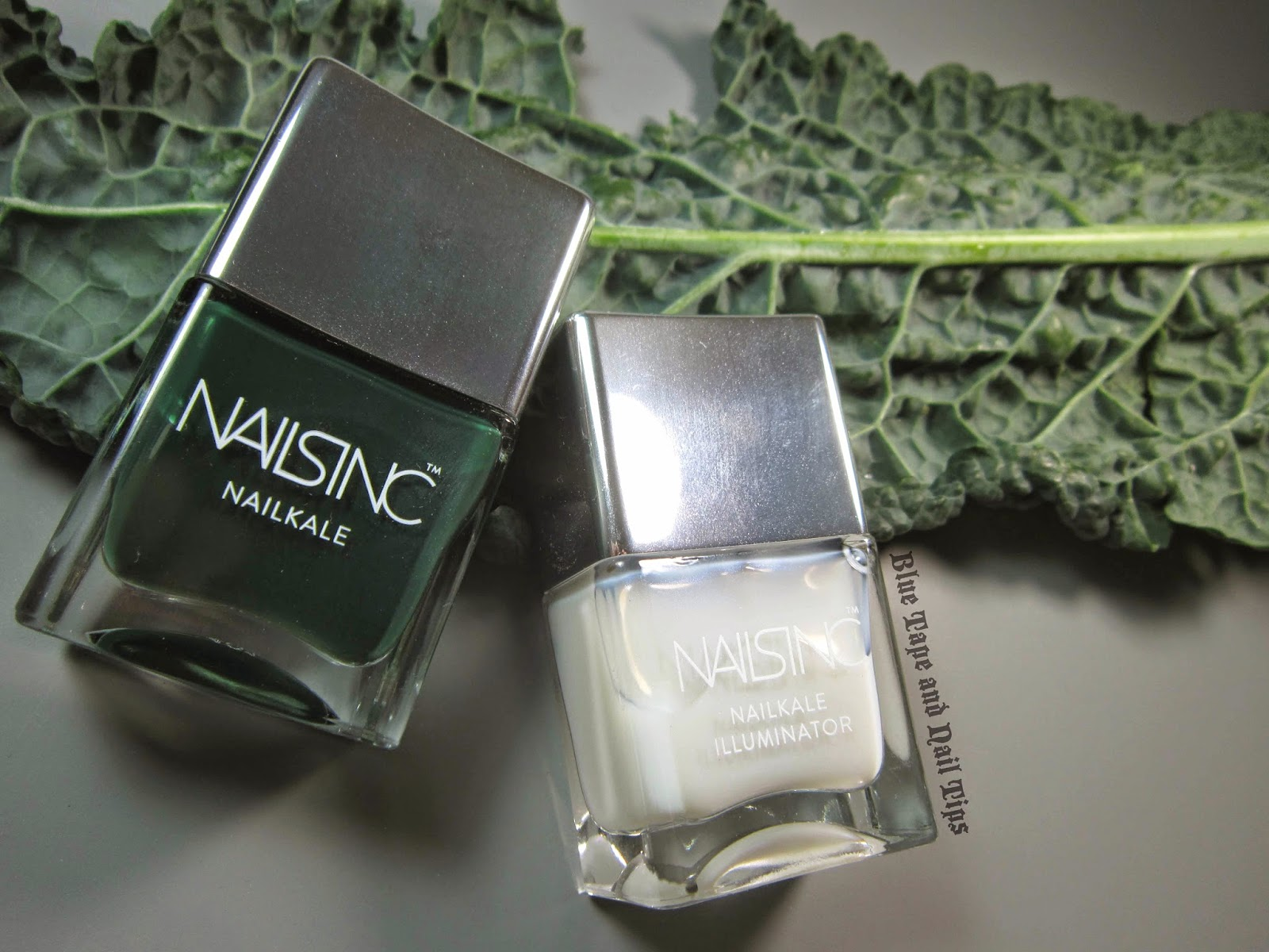 Blue Tape and Nail Tips: Nails Inc NailKale and Illuminator Review