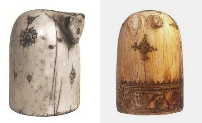 Piezas de ajedrez árabe, siglos IX y XII