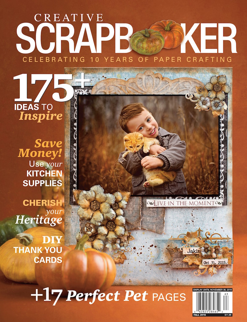 Creative Scrapbooker Magazine - Fall Issue 2016