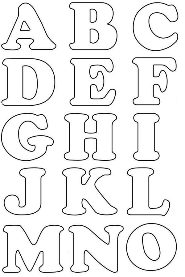 Molde De Letras Para Alfabeto