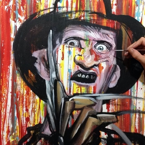 18-Freddy-Krueger-Robert-Englund-Jonathan-Harris-Celebrity-Paintings-Images-and-Videos-www-designstack-co