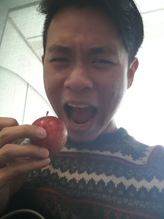 """Tiny lil apple from my generous classmate, thank you bro!"""