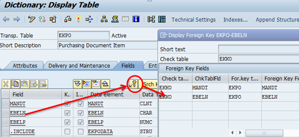 Foreign key relationship in ABAP