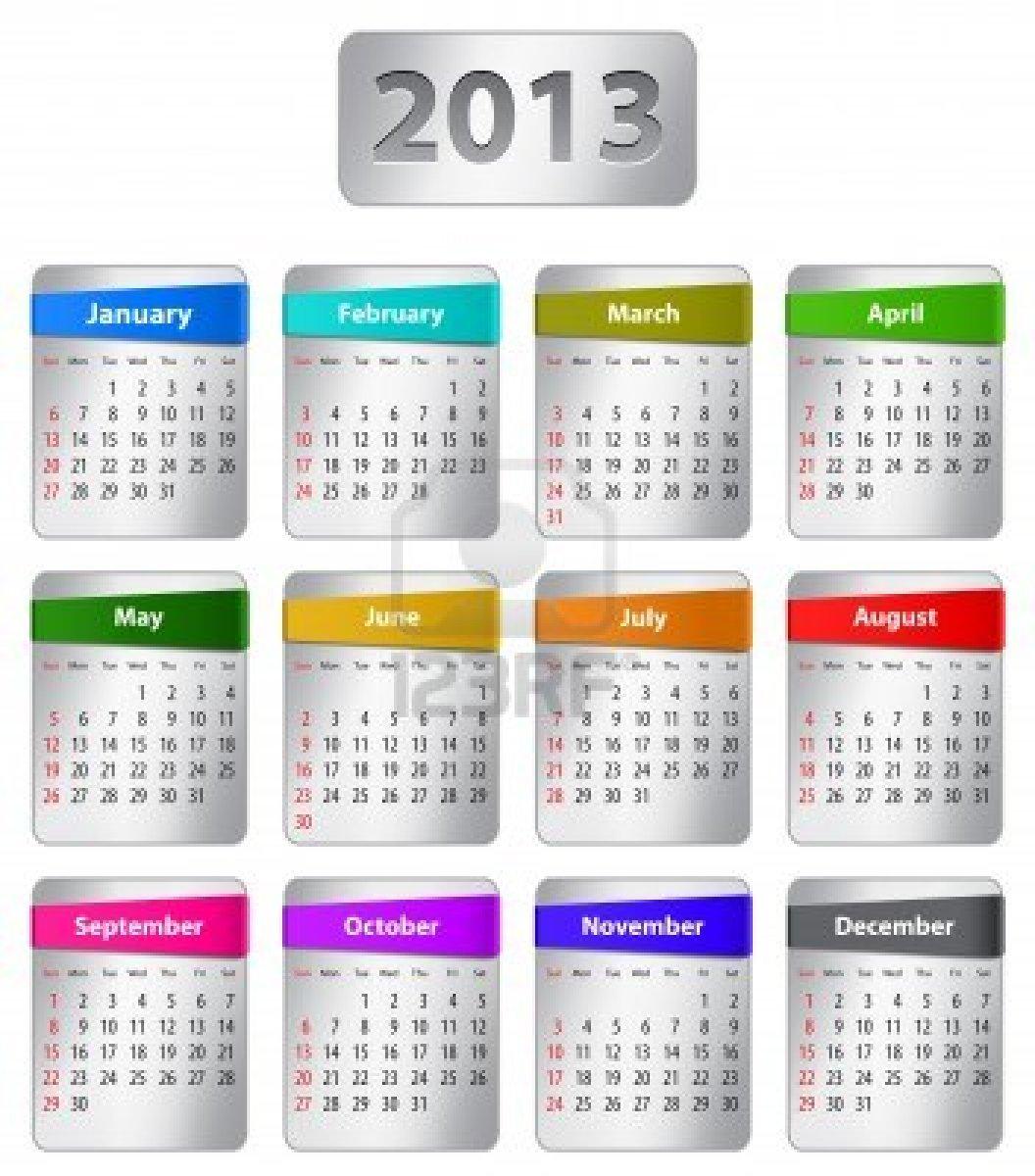 2013 Year Calendar Printable