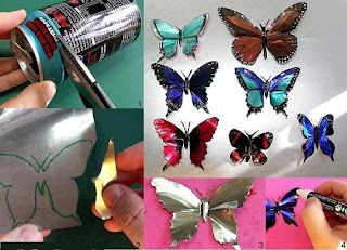 Mariposas con Latas Recicladas