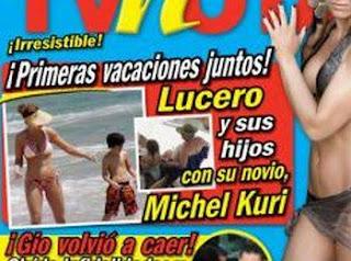 Lucero De Vacaciones Con Su Novio Michel Kuri
