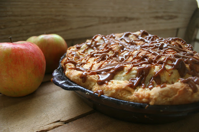 Apple Pie with Salted Caramel Glaze