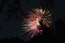 Feuerwerk zum Abschluss der Kirmes...