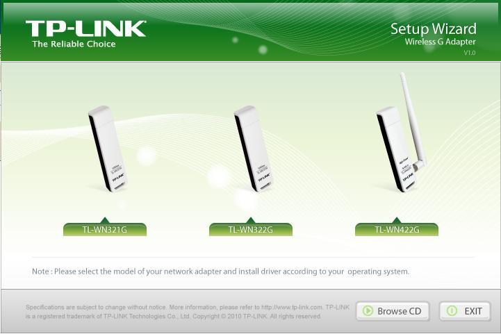 CD Driver Download: Wireless G Adapter, TP-Link, TL-WN321G,TL-WN322G