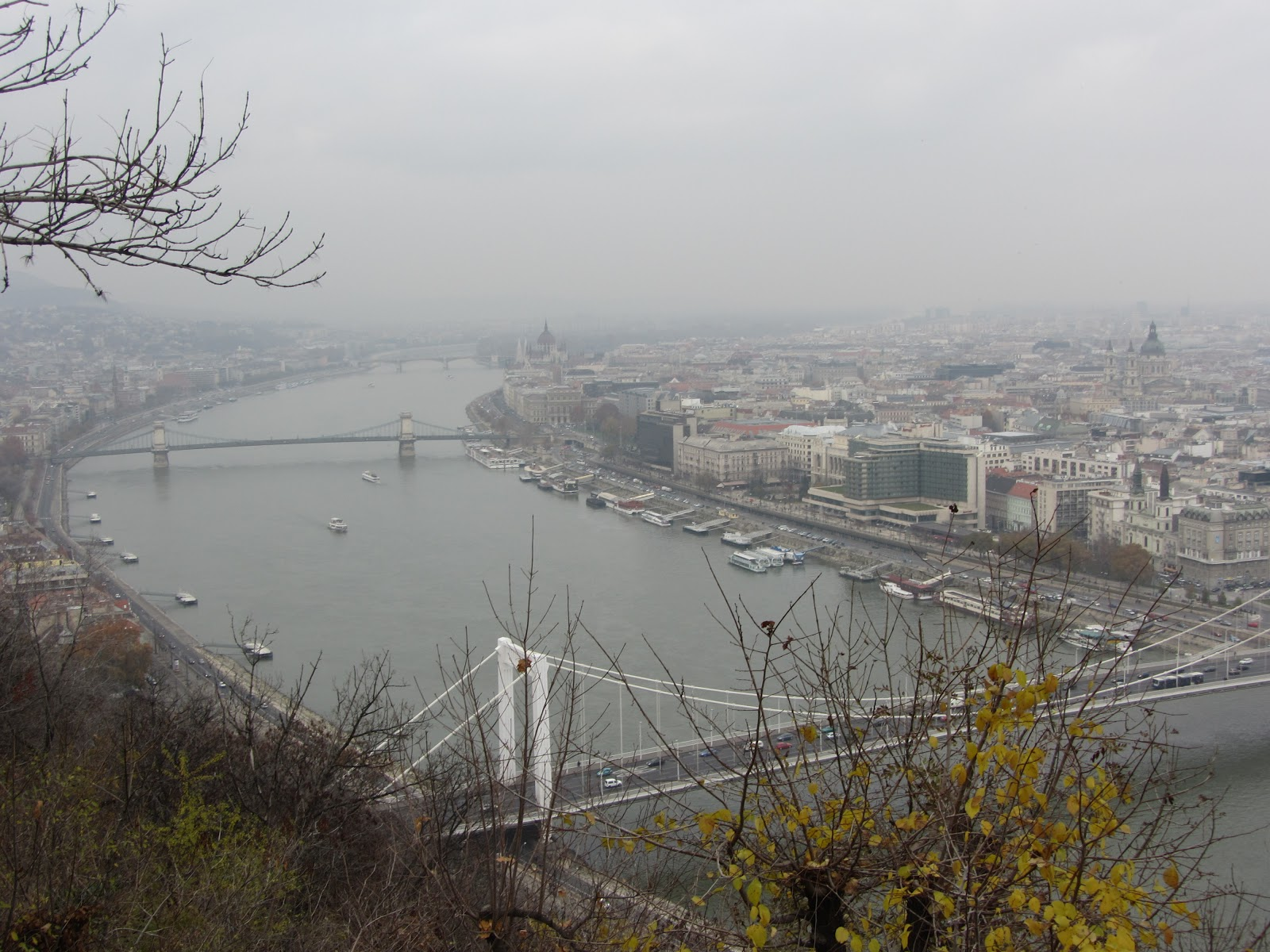 View of the Danube from Gellért Hill