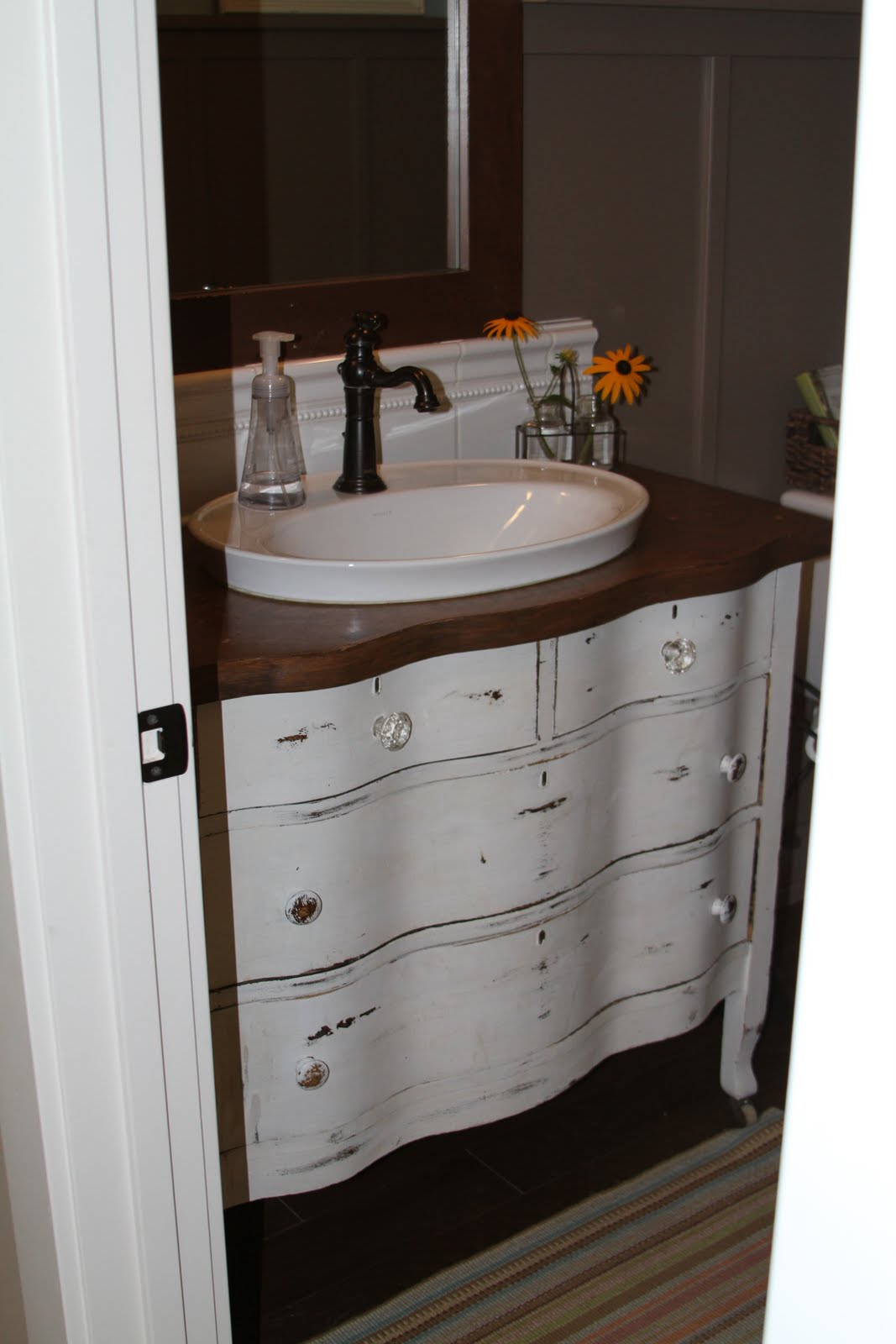 Old dresser for sink Used bathroom vanity with sink