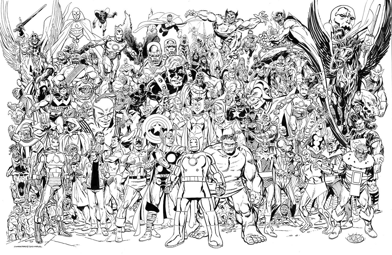 The Dork Review John Byrne S Family Portraits Of The Marvel Verse