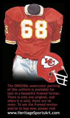 Kansas City Chiefs 1976 uniform