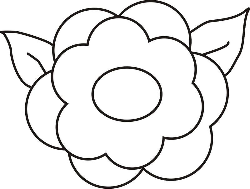 imagenes de flores para colorear grandes - imagenes de flores para colorear Miexsistir