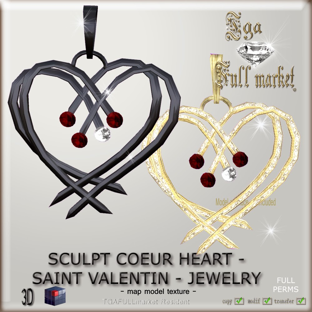 SCULTP COEUR HEART SAINT VALENTIN - JEWELRY