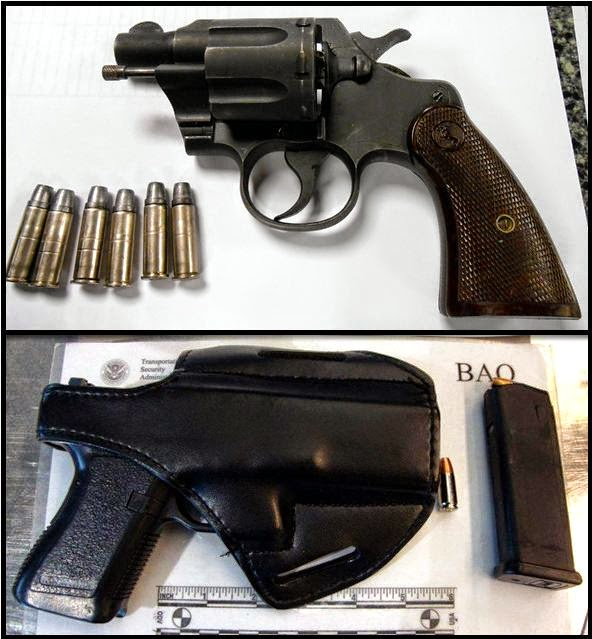 (Top to Bottom) Guns Discovered at PHX and BWI