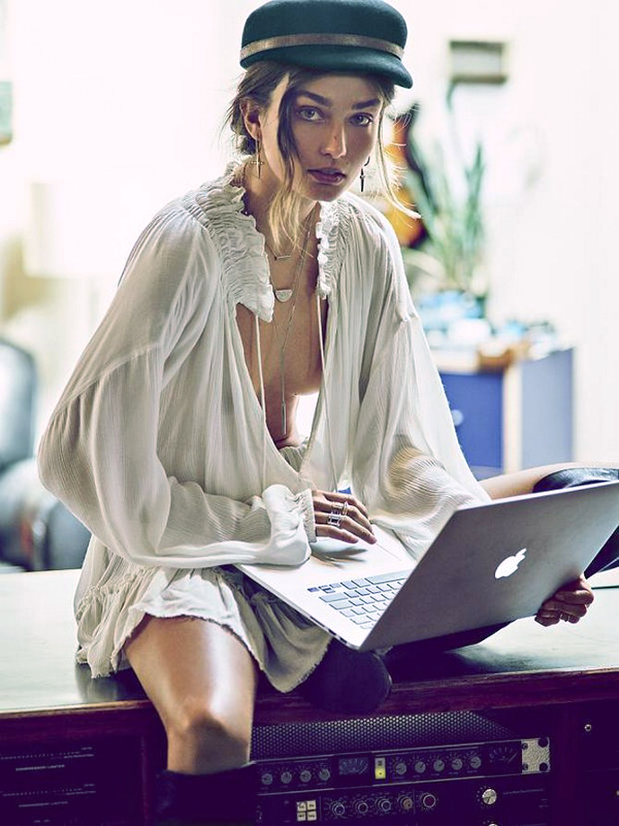 The best place to sell your pre-loved designer clothes and accessories. Review of Vestiaire Collective / Andreea Diaconu in Free People lookbook via www.fashionedbylove.co.uk